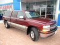 2000 Dark Carmine Red Metallic Chevrolet Silverado 1500 LS Extended Cab 4x4  photo #12