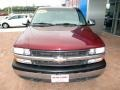 2000 Dark Carmine Red Metallic Chevrolet Silverado 1500 LS Extended Cab 4x4  photo #15