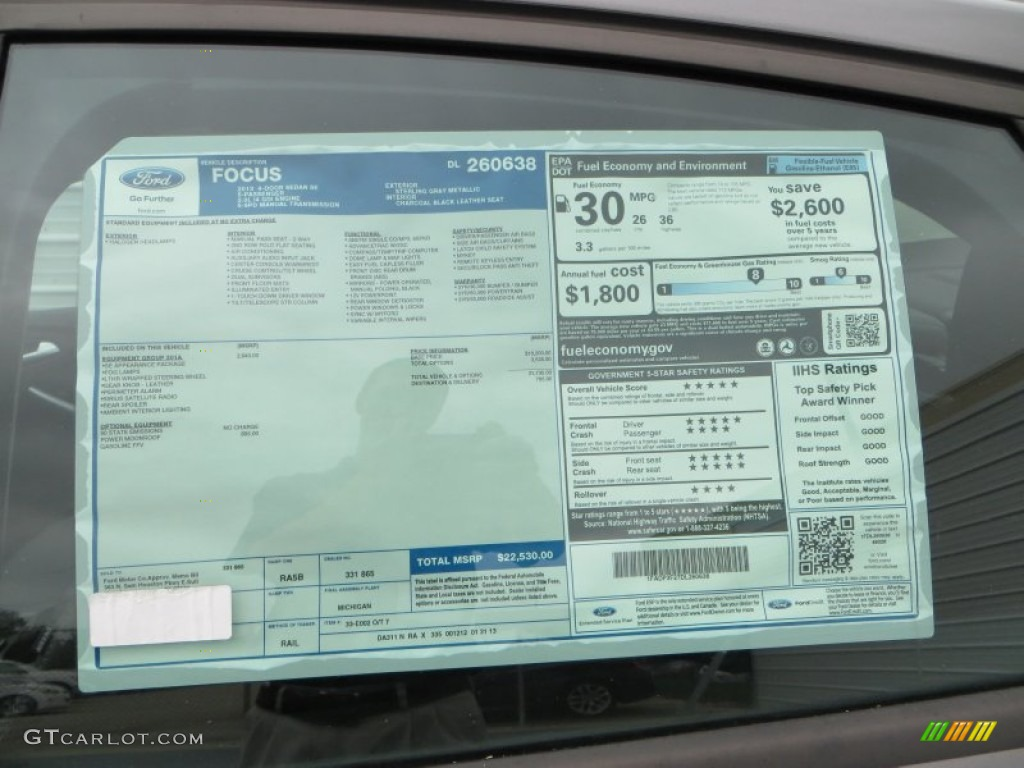 2013 ford focus se sedan window sticker photos for 2001 ford focus window motor