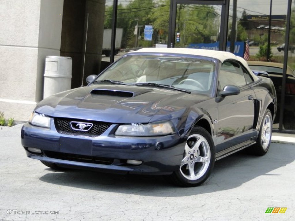 True Blue Metallic Ford Mustang
