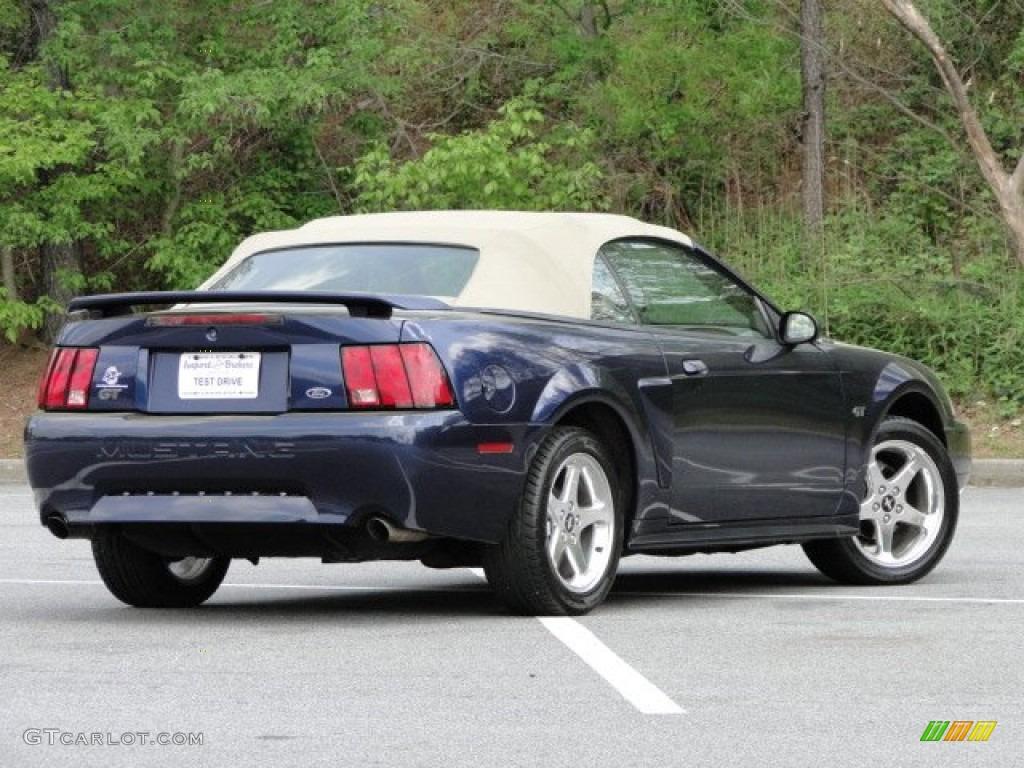 2003 Mustang GT Convertible - True Blue Metallic / Medium Parchment photo #3