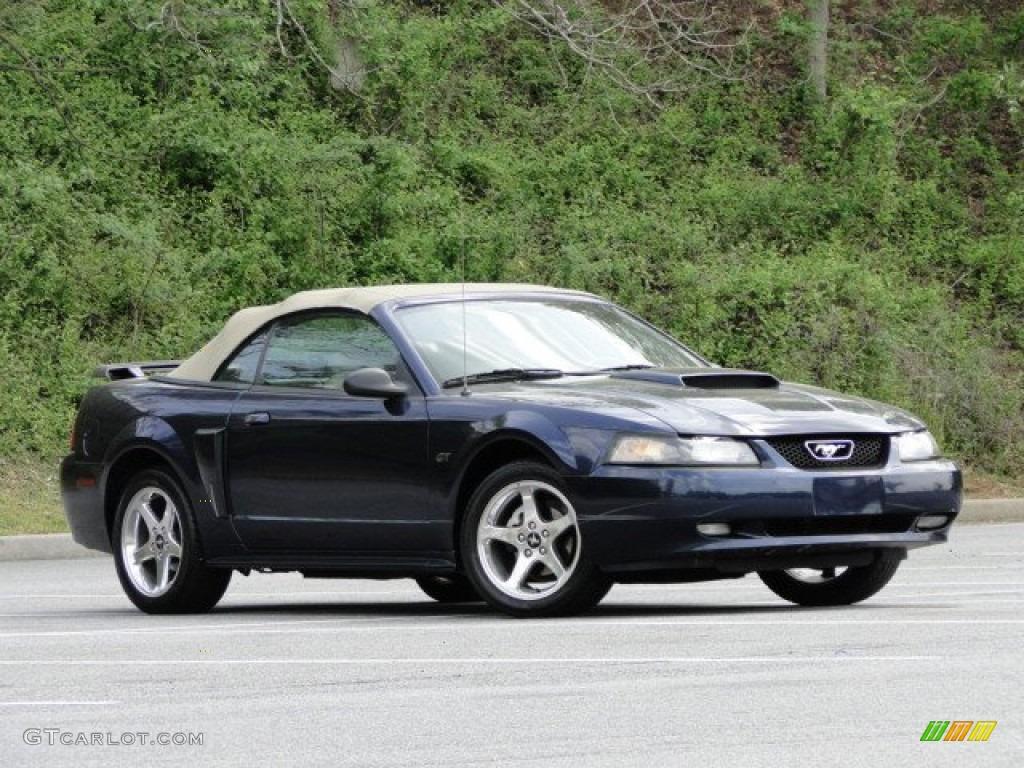 2003 Mustang GT Convertible - True Blue Metallic / Medium Parchment photo #5