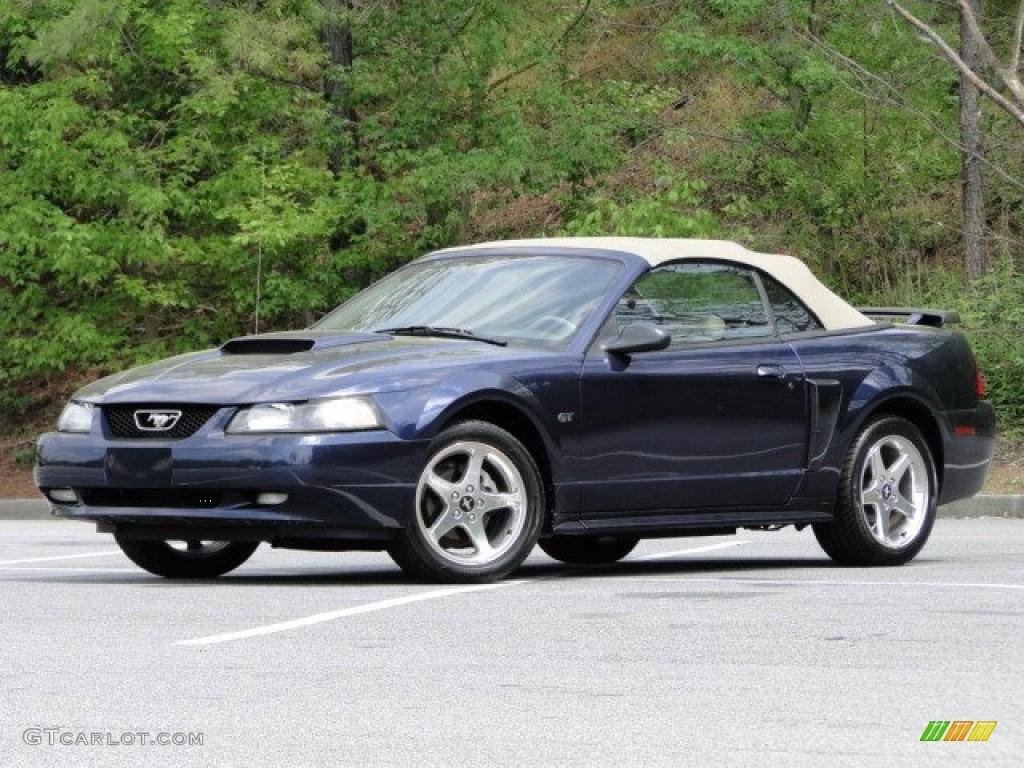 2003 Mustang GT Convertible - True Blue Metallic / Medium Parchment photo #6