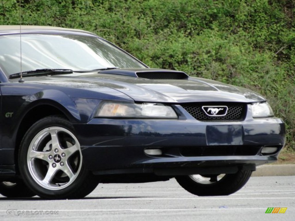 2003 Mustang GT Convertible - True Blue Metallic / Medium Parchment photo #8