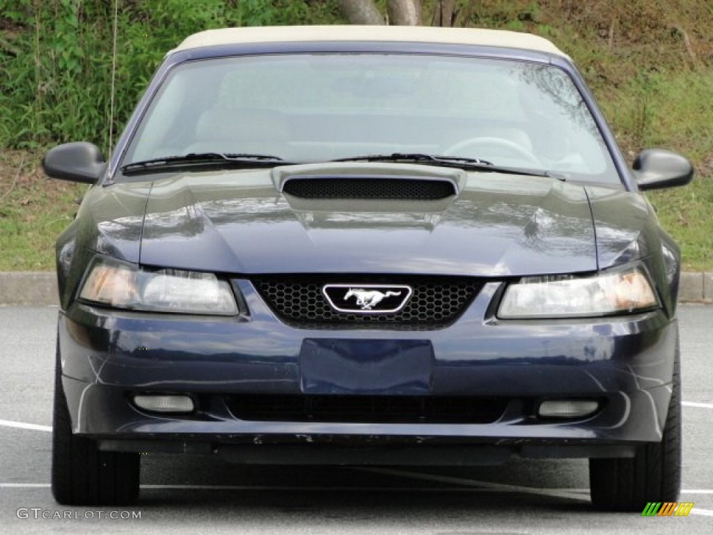 2003 Mustang GT Convertible - True Blue Metallic / Medium Parchment photo #20