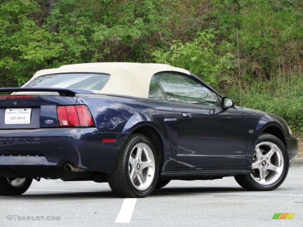 2003 Mustang GT Convertible - True Blue Metallic / Medium Parchment photo #24