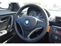 2009 BMW 1 Series Black Interior Steering Wheel Photo