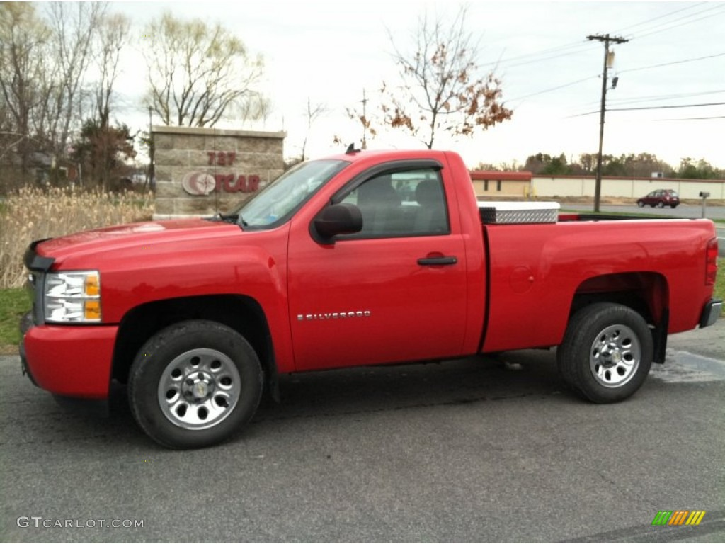 2009 Silverado 1500 LS Regular Cab - Victory Red / Dark Titanium photo #1