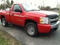2009 Victory Red Chevrolet Silverado 1500 LS Regular Cab  photo #4
