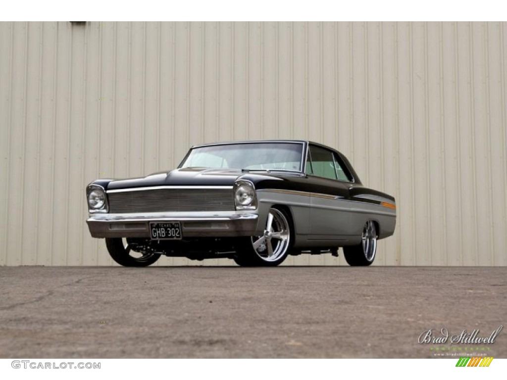 1966 Black Silver Chevrolet Chevy Ii Nova Restomod 79950663 Photo