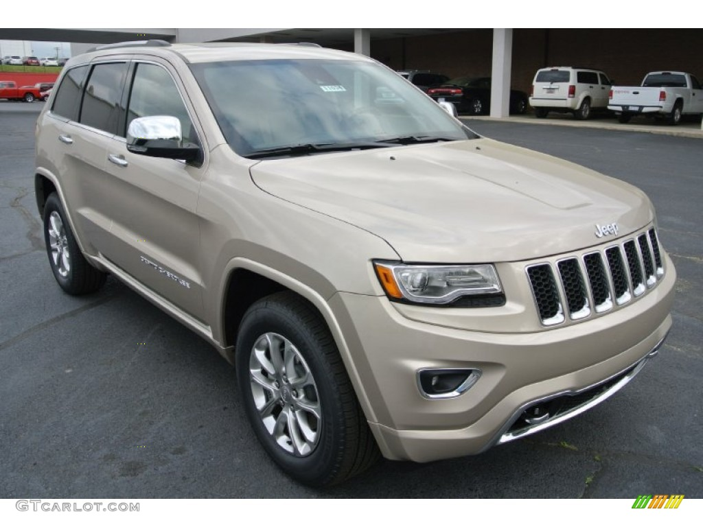 2014 Cashmere Pearl Jeep Grand Cherokee Overland 4x4 79950237 Car Color Galleries