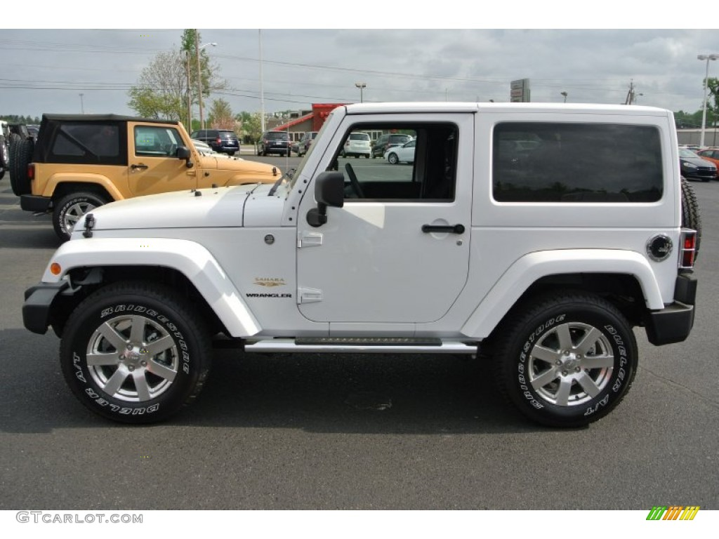 bright white 2013 jeep wrangler sahara 4x4 exterior photo 79958627. Black Bedroom Furniture Sets. Home Design Ideas