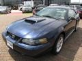 2001 True Blue Metallic Ford Mustang GT Coupe  photo #17