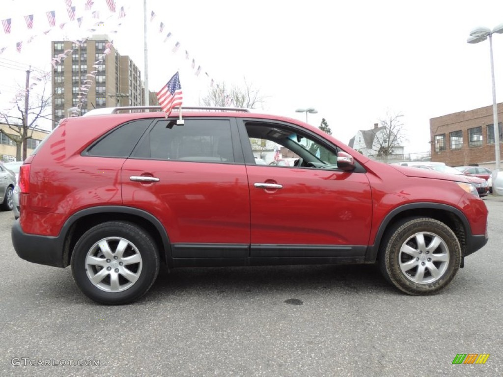 2011 Sorento LX - Spicy Red / Gray photo #5