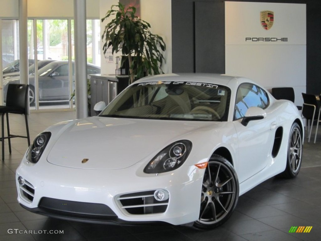 Buy new 2014 PORSCHE CAYMAN S, SIX SPEED MANUAL, WHITE, NAVIGATION ...
