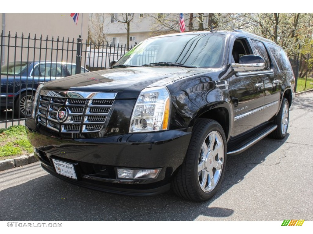 2011 black ice metallic cadillac escalade esv luxury awd. Black Bedroom Furniture Sets. Home Design Ideas