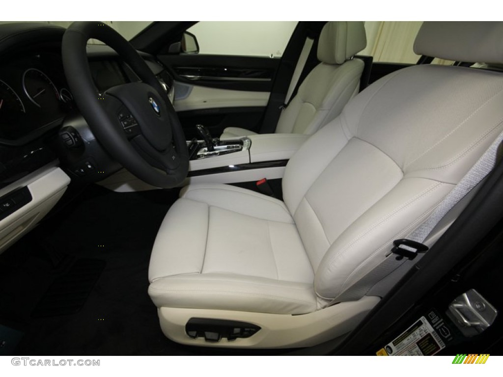 ivory white black interior 2013 bmw 7 series 750li sedan photo 80039387. Black Bedroom Furniture Sets. Home Design Ideas