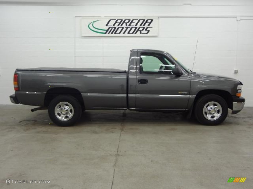 2002 Silverado 1500 Work Truck Regular Cab - Medium Charcoal Gray Metallic / Graphite Gray photo #5