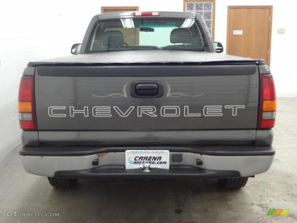 2002 Silverado 1500 Work Truck Regular Cab - Medium Charcoal Gray Metallic / Graphite Gray photo #9