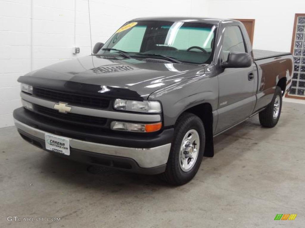 2002 Silverado 1500 Work Truck Regular Cab - Medium Charcoal Gray Metallic / Graphite Gray photo #13