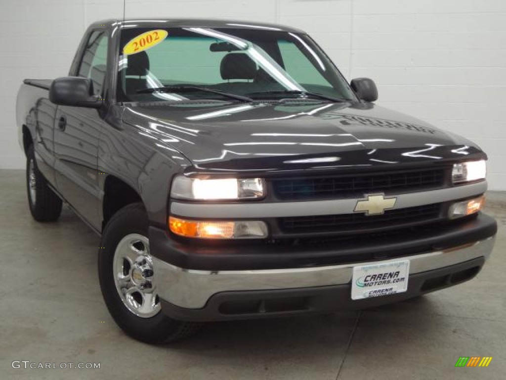 2002 Silverado 1500 Work Truck Regular Cab - Medium Charcoal Gray Metallic / Graphite Gray photo #15