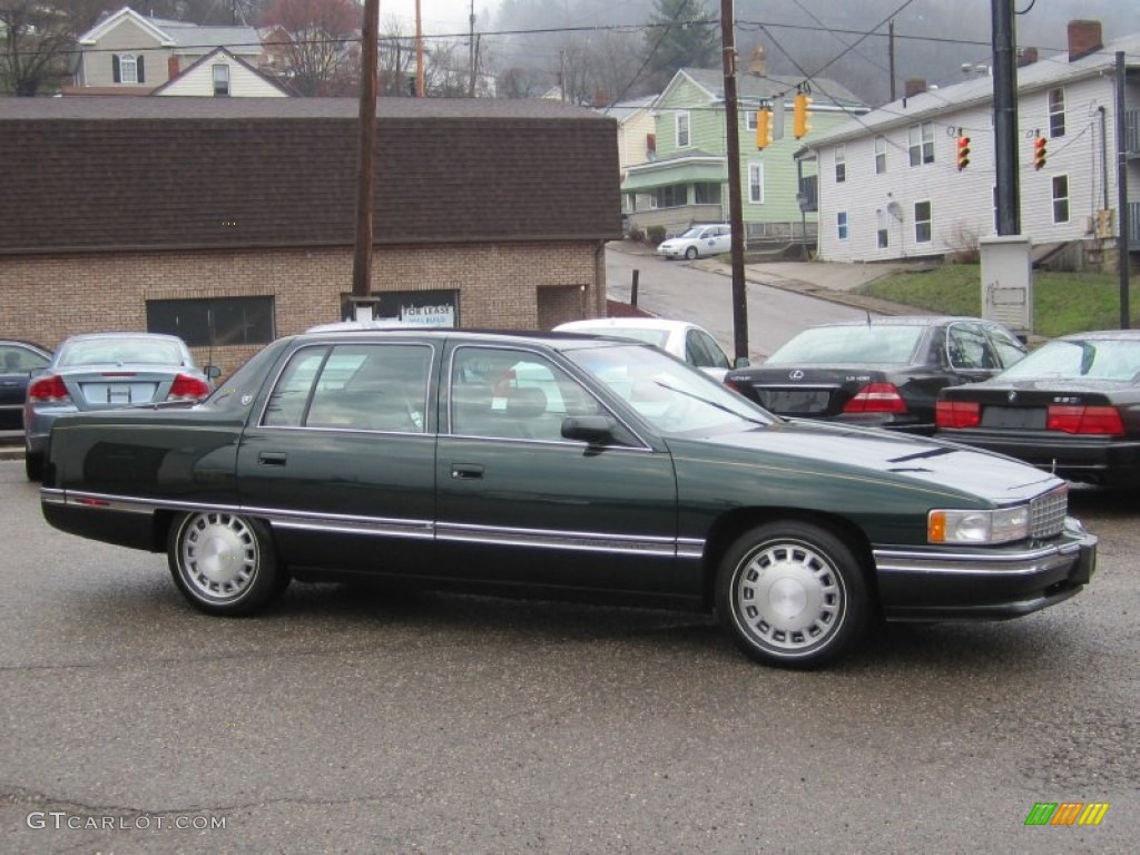 polo green metallic 1996 cadillac deville sedan exterior. Black Bedroom Furniture Sets. Home Design Ideas