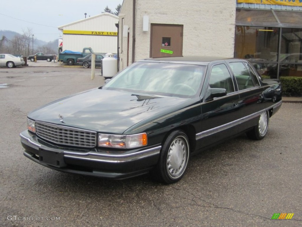 polo green metallic 1996 cadillac deville sedan exterior. Cars Review. Best American Auto & Cars Review
