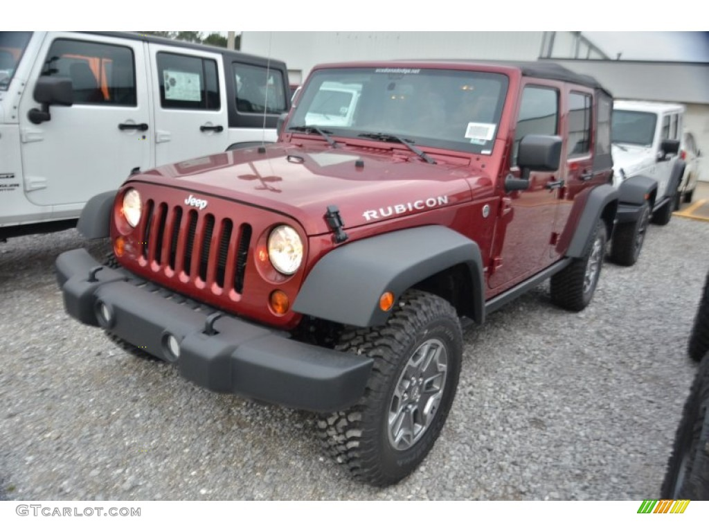 2013 Deep Cherry Red Crystal Pearl Jeep Wrangler Unlimited Rubicon 4x4  80076017