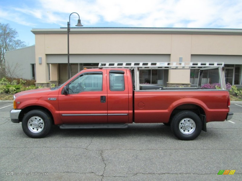bright amber metallic 1999 ford f250 super duty lariat extended cab exterior photo 80087121. Black Bedroom Furniture Sets. Home Design Ideas