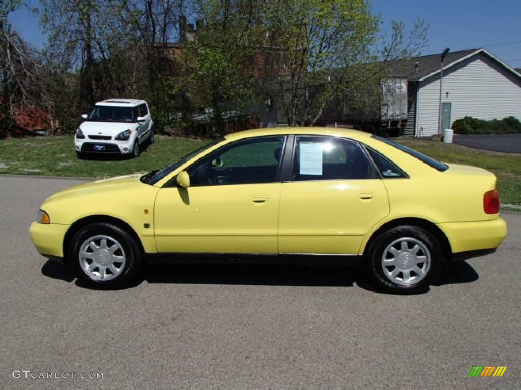 brilliant yellow 1997 audi a4 1 8t quattro sedan exterior photo 80089636. Black Bedroom Furniture Sets. Home Design Ideas