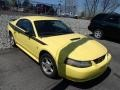 2002 Zinc Yellow Ford Mustang V6 Coupe  photo #1