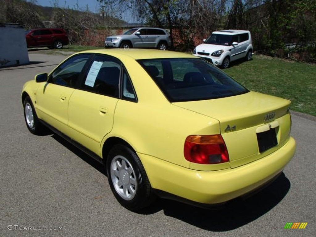 brilliant yellow 1997 audi a4 1 8t quattro sedan exterior photo 80089651. Black Bedroom Furniture Sets. Home Design Ideas