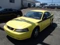 2002 Zinc Yellow Ford Mustang V6 Coupe  photo #3