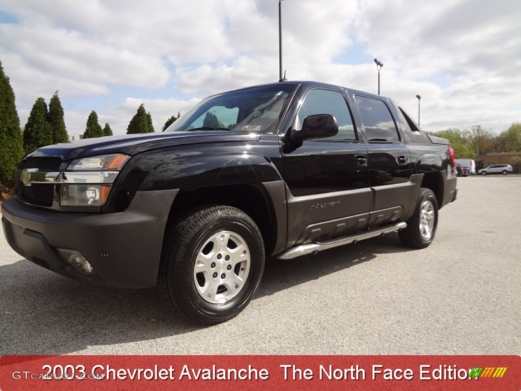 Black chevrolet avalanche chevrolet avalanche north face