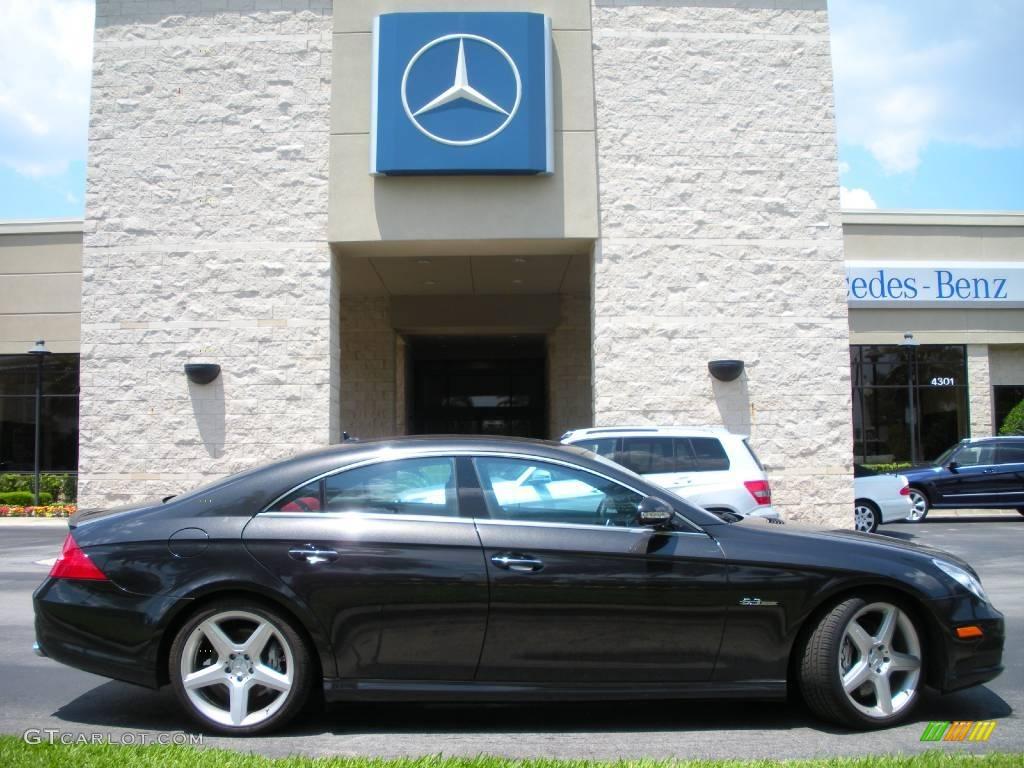 2008 designo platinum black metallic mercedes benz cls 63 for Platinum mercedes benz