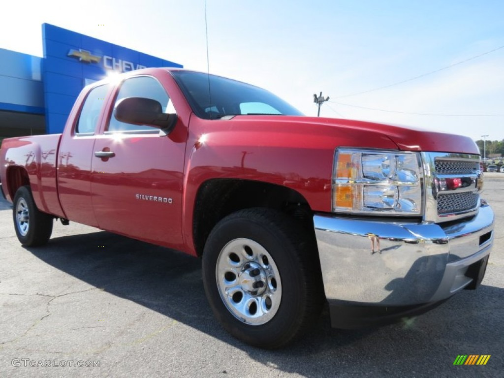 2013 Silverado 1500 Work Truck Extended Cab - Victory Red / Dark Titanium photo #1
