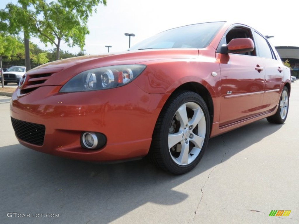 2005 lava orange mica mazda mazda3 s hatchback 80174691. Black Bedroom Furniture Sets. Home Design Ideas