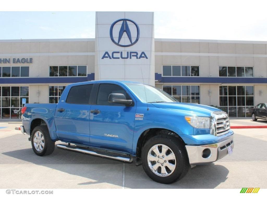 2008 Tundra Texas Edition CrewMax - Blue Streak Metallic / Beige photo #1