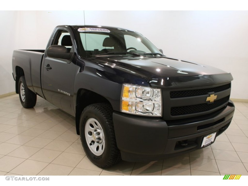 2012 Silverado 1500 LS Regular Cab 4x4 - Imperial Blue Metallic / Dark Titanium photo #1