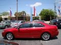 2008 Vivid Red Metallic Lincoln MKZ Sedan  photo #5
