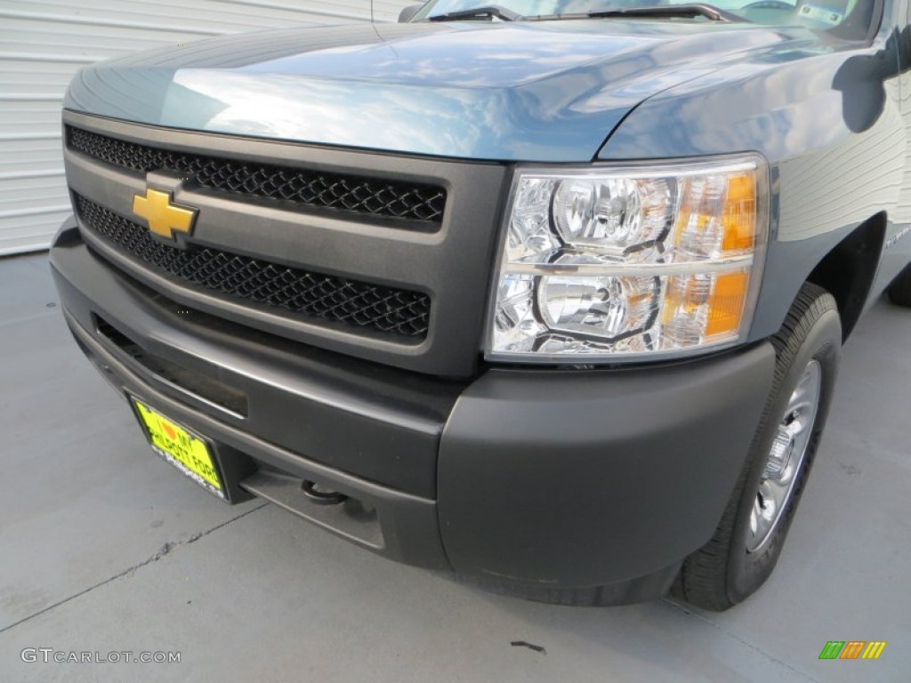 2012 Silverado 1500 Work Truck Regular Cab 4x4 - Blue Granite Metallic / Dark Titanium photo #10