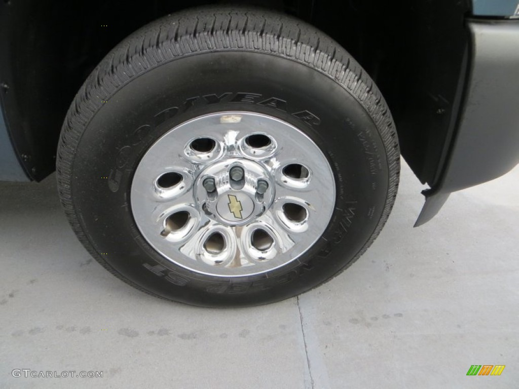 2012 Silverado 1500 Work Truck Regular Cab 4x4 - Blue Granite Metallic / Dark Titanium photo #14