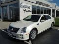 White Diamond Tricoat 2010 Cadillac STS 4 V6 AWD
