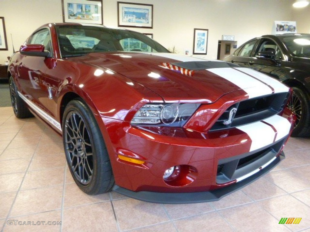 2014 Ruby Red Ford Mustang Shelby GT500 SVT Performance Package Coupe