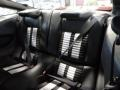 2014 Ford Mustang Shelby Charcoal Black/White Accents Interior Rear Seat Photo