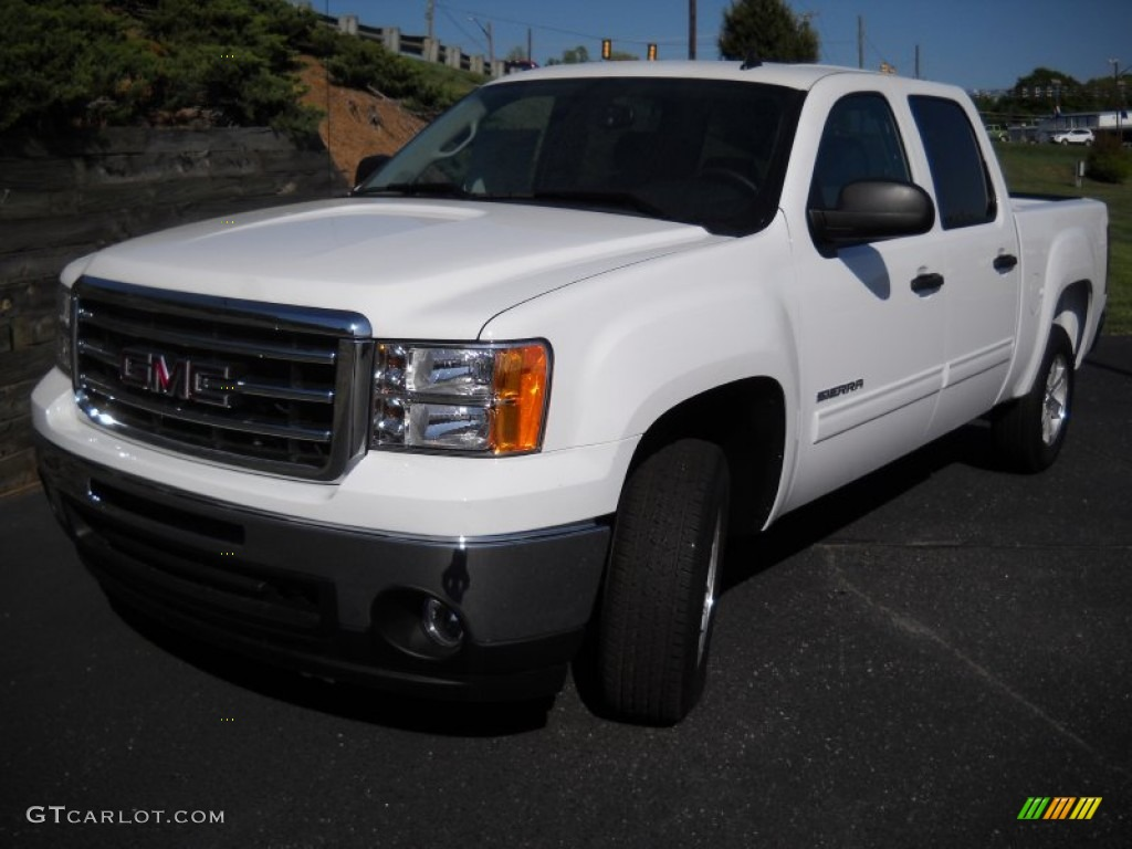 2013 summit white gmc sierra 1500 sle crew cab 80225611 car color galleries. Black Bedroom Furniture Sets. Home Design Ideas