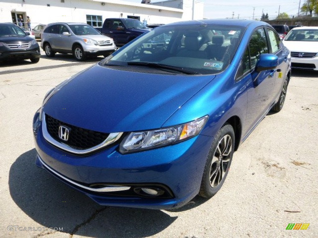 Dyno Blue Pearl 2013 Honda Civic Ex L Sedan Exterior Photo