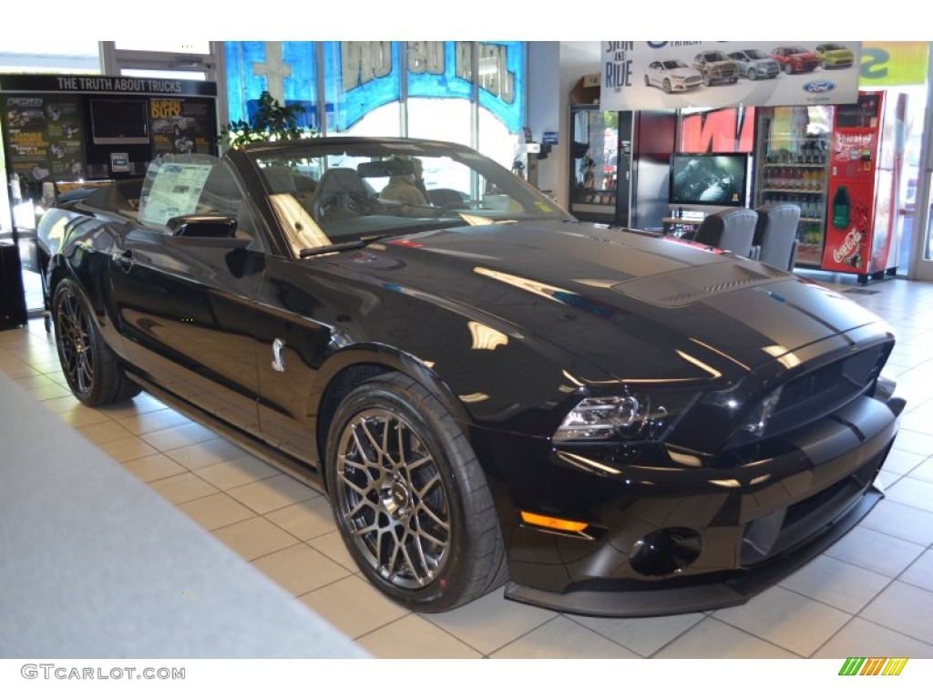 2014 mustang shelby gt500 svt performance package convertible black shelby charcoal blackblack