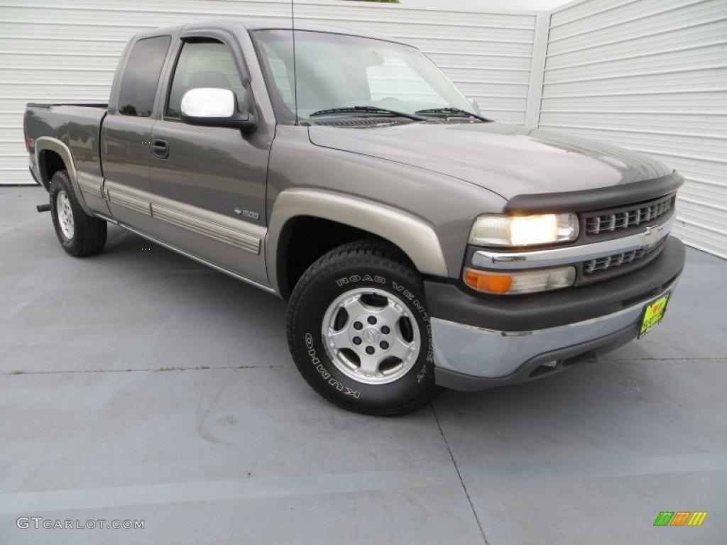 2000 Silverado 1500 LS Extended Cab 4x4 - Charcoal Gray Metallic / Medium Gray photo #1