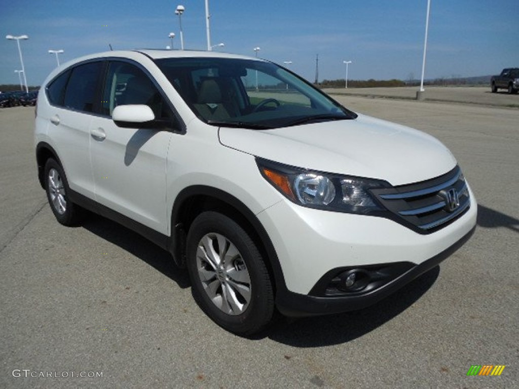 White Diamond Pearl 2013 Honda Cr V Ex Awd Exterior Photo 80312851